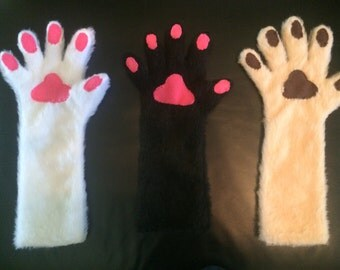 Hand Paw Gloves - Customizable Colors