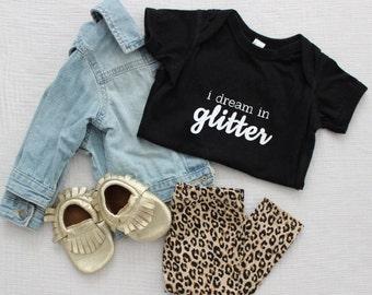 Glitter Black Onesie