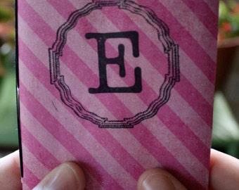 Pink Striped E Sketchbook