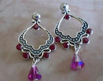 Antique Silver Dangling Earrings