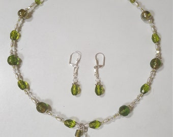 Lampworked Glass Necklace & Earrings