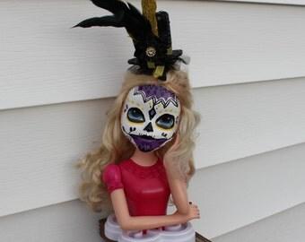 """Sugar Skull Día de los Muertos Doll """"Roxanne"""""""