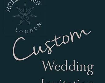PRINTABLE Custom made Wedding Invitation, Price is for DEPOSIT, Digital file, Custom made