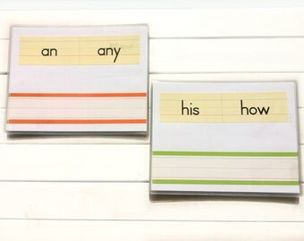 Practice Writing - Sight Words - Laminated Sight Words - Teacher Resources - Learning Cards - Handwriting Practice