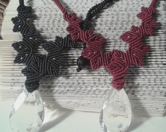 Crystal floral necklace with pendant-Ivy