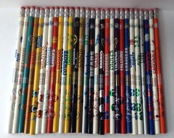 NFL Vintage Pencil Set of 28 Teams
