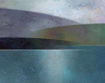 Landscape Art, Modern Landscape Print, RIVER VALLEY #1, Landscape Print, River Artwork, Minimalist Landscape, Contemporary Art Print