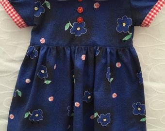 Toddler dress, girls dress size 2, girls fall dress, toddler birthday dress, Christmas dress, vintage style,