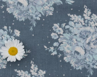 Tilda fabric FQ / Painting Flowers / Limited Edition / Summer Floral Blue / Fat quarter