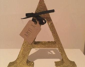Personalised Freestanding Glitter Letter