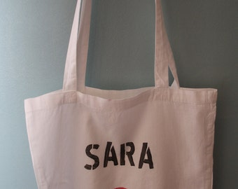 Tote with name Totebag Einkauftstasche jute bag