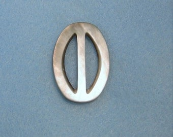 """Smoky Mother of Pearl Buckle, 1.5"""""""