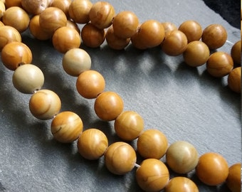 "8.5mm Natural Tiger skin Jasper Round Gemstone Beads - full 15.5"" strand"