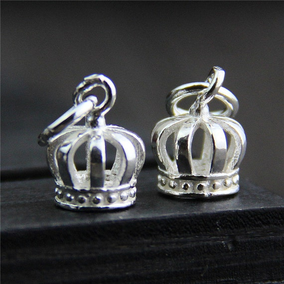 sterling silver crown charm sterling silver crown