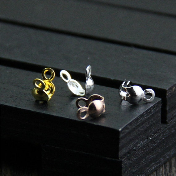 Pcs of sterling silver ball chain crimp ends by