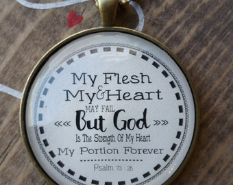 Necklace-My Flesh & My Heart-handmade