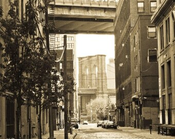 Old DUMBO (Sepia Wide Standout or Print Wrap)