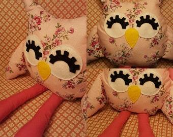 Pink Floral Olivia Owl