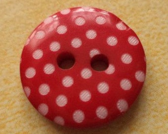 11 BUTTONS 16mm red (2490) button