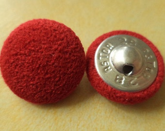 18 mm (6061) fabric button buttons 10 Red FABRIC BUTTONS