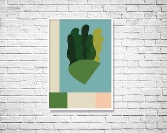 Printable art, digital print, digital download, abstract print, minimalist print, minimalist art prints, wall decor, art printable flora
