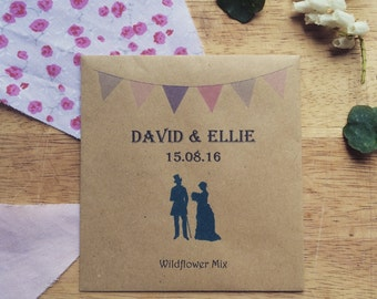 Wildflower Seed Wedding Favours Bride and Groom