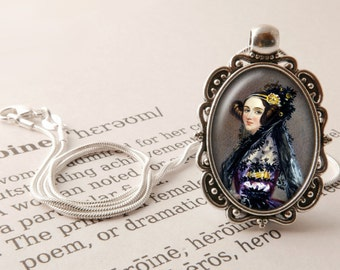 "Ada Lovelace Pendant Necklace - Ada Lovelace Jewelry, Women in Science Necklace, Mathematician Pendant, ""Poetical Science"" Jewellery"