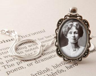 Emily Pankhurst Pendant Necklace - Emmeline Pankhurst Jewelry, Suffragette Necklace, Feminist Jewellery, Heroine Pendant, Vintage Necklace