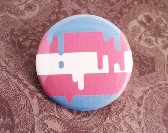 Button - Transgender LGBT Gender Identity Queer Pride Flag!