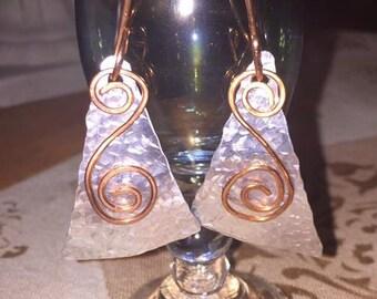 Fun Zingy Silver Dangly Earrings