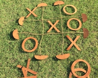 Large Wood Tic Tac Toe, Outdoor Games, Lawn Games, Handmade
