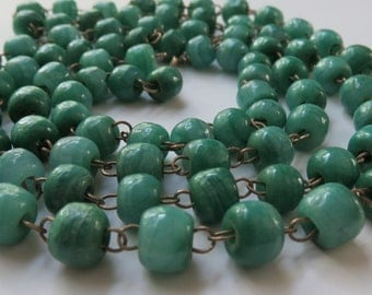 Vintage Glass Bead Necklace Vintage Jewelry Light Green Bead Necklace Costume Jewelry Necklace Vintage Necklace Jewelry Beaded Necklace