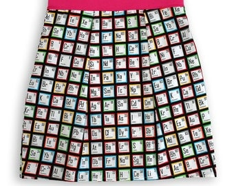 Adult Chemistry Periodic Table Pocket Skirt
