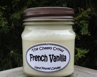Vanilla Candle, French Vanilla Candle, Scented Candle, Soy Candle, Vanilla Soy Candle, Vanilla Bean Candle, Gift for Her, Gift for Mom
