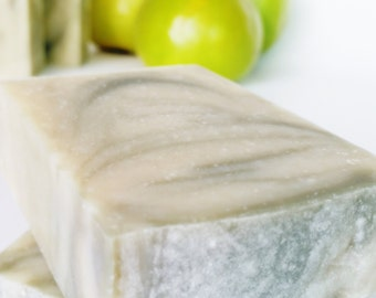 GREEN APPLE Vegan Soap, Handmade Soap, Artisan Soap, Cold Process Soap, Fragrance Soap, Luxury Soap, Gift For Woman, Gift For Teen, AnnBoyar