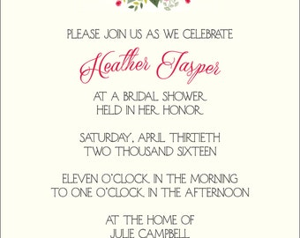 Invitation - Bridal Shower