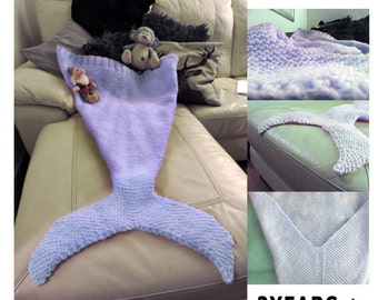 Mermaid blanket knitting PATTERN QUICK and EASY