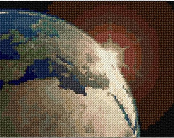 Earth Colour Cross Stitch Chart