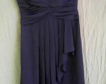 Gray Strapless Evening Dress