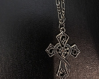 Silver Celtic Cross Necklace C1