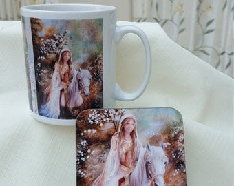 Guinevere Mug and Coaster Set