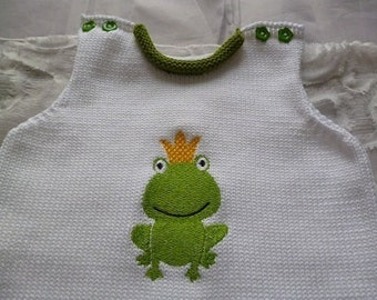 """Babystrampler """"Frog King"""""""