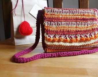 Hand made tricolor bag a unique gift for her