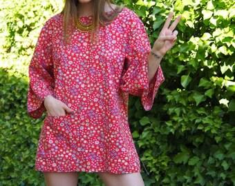 Floral 60s/70s Mini Dress