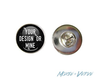 Custom Lapel Pin, Dome Glass Lapel Pin, Photo Pin, Brooch, Personalized, Silver