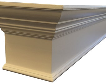 "24"" - 80"" Window Cornice Box with Crown Molding"