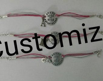 Stamped cord wrap bracelets