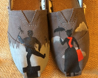 Mary Poppins Painted TOMS