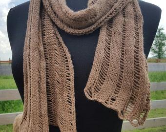 Knitted Alpaca Scarf