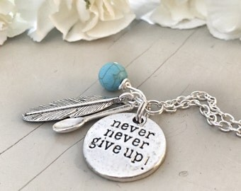 Spoon Necklace Never, never give up!